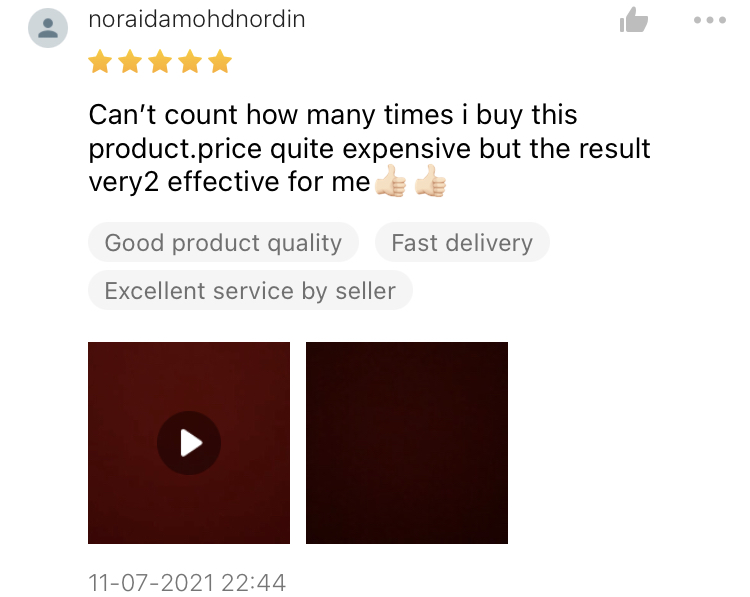 Noraidamohdnordin, 41   The result very effective for me